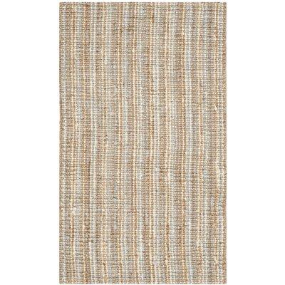 Richmond Gray/Natural Area Rug Rug Size: 26 x 4