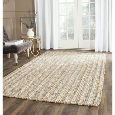 Richmond Hand-Woven Gray/Natural Area Rug Rug Size: Rectangle 4 x 6