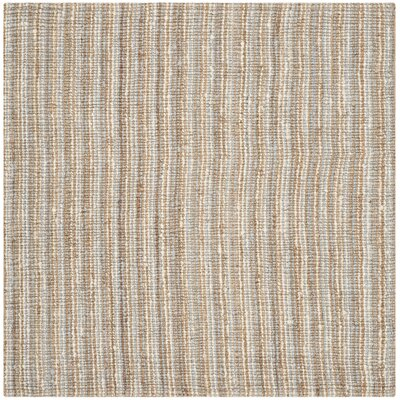 Richmond Hand-Woven Gray/Natural Area Rug Rug Size: Square 6