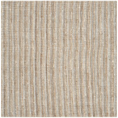 Richmond Hand-Woven Gray/Natural Area Rug Rug Size: Square 8