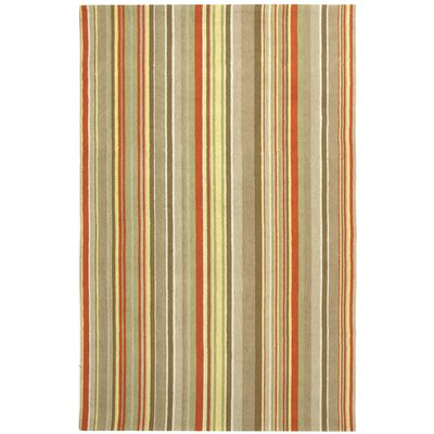 Atilia Red Striped Area Rug Rug Size: 3 x 5
