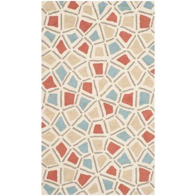 Ellenton Red/Blue Geometric Area Rug Rug Size: 39 x 59