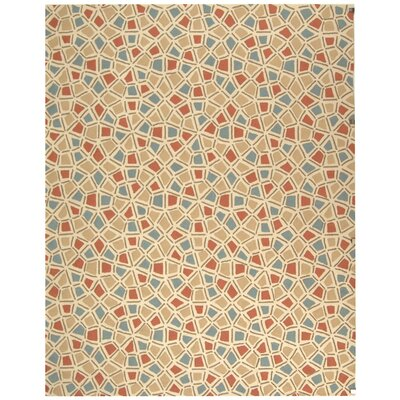 Ellenton Red/Blue Geometric Area Rug Rug Size: 86 x 116