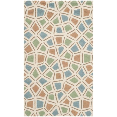 Atilia Blue/Green Geometric Area Rug Rug Size: Rectangle 56 x 86