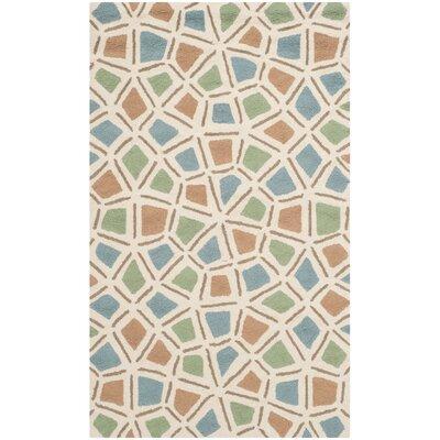 Atilia Blue/Green Geometric Area Rug Rug Size: 86 x 116