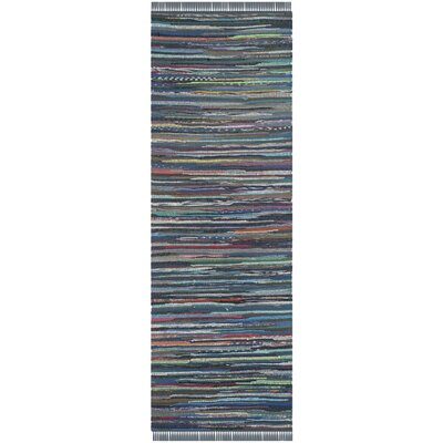 Eastport Hand Woven Cotton Blue Area Rug Rug Size: Runner 23 x 6