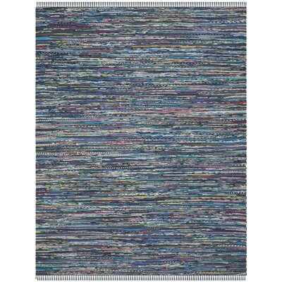 Eastport Rag Multi Contemporary Blue Area Rug Rug Size: 5 x 8