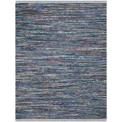 Eastport Rag Multi Contemporary Blue Area Rug Rug Size: 8 x 10