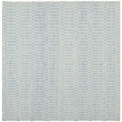 Georgiana Light Blue Floral Rug Rug Size: Square 6