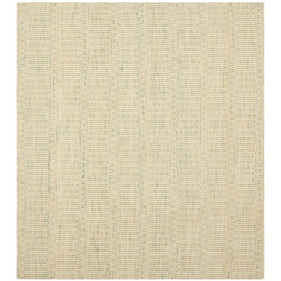Georgiana Green Floral Rug Rug Size: Square 6