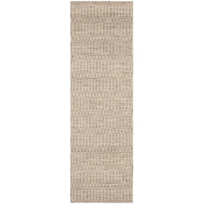 Allenstown Dark Brown Rug Rug Size: Runner 23 x 8