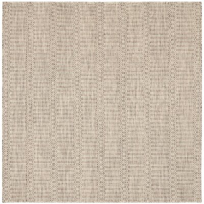 Georgiana Dark Brown Rug Rug Size: Square 6