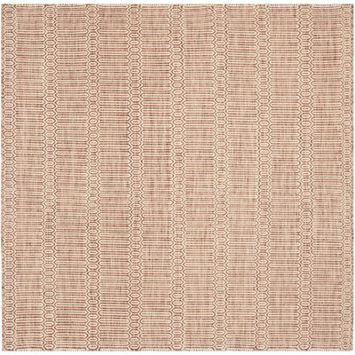 Georgiana Rust Rug Rug Size: Square 6