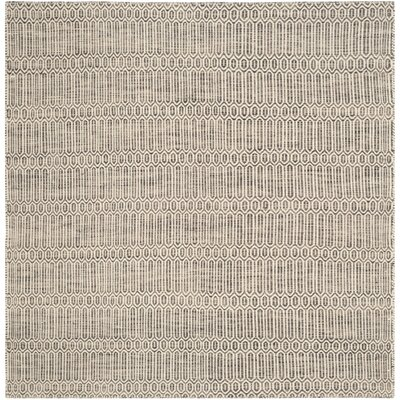 Georgiana Contemporary Grey Rug Rug Size: Square 6