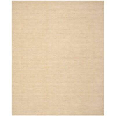 Abia Hand Woven Tan Area Rug Rug Size: 8 x 10