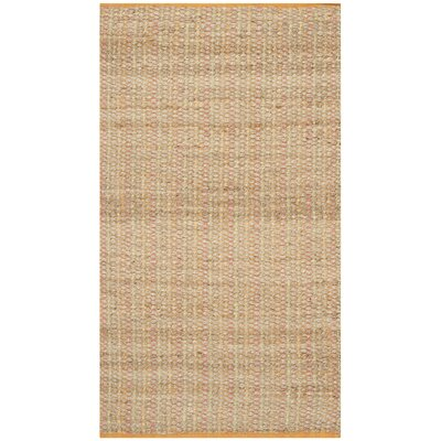 Abia Hand Woven Beige Area Rug Rug Size: Rectangle 9 x 12