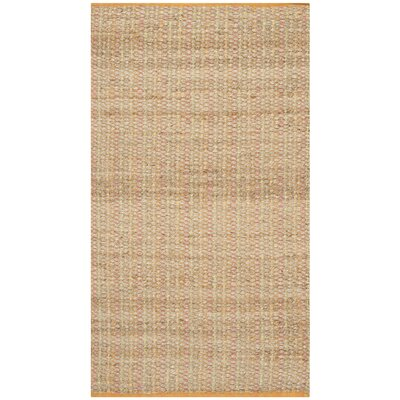 Abia Hand Woven Beige Area Rug Rug Size: Rectangle 8 x 10