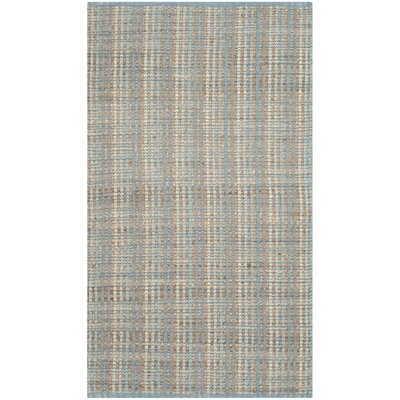 Abia Hand-Woven Gray/Tan Area Rug Rug Size: Rectangle 3 x 5