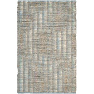 Abia Grey Area Rug Rug Size: 5 x 8