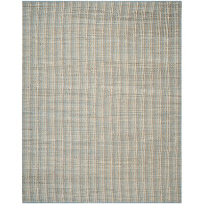 Abia Hand-Woven Gray/Tan Area Rug Rug Size: Rectangle 8' x 10'