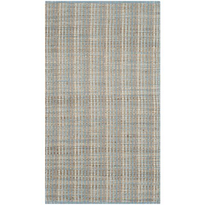 Abia Hand-Woven Gray/Tan Area Rug Rug Size: Rectangle 2 x 3