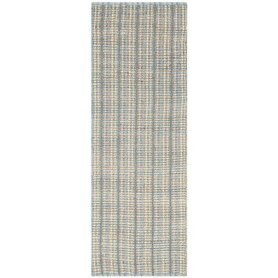 Abia Hand-Woven Gray/Tan Area Rug Rug Size: Runner 23 x 8