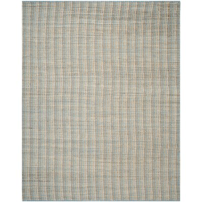 Abia Hand-Woven Gray/Tan Area Rug Rug Size: Rectangle 10 x 14