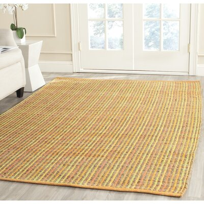 Abia Hand-Woven Yellow Area Rug Rug Size: Rectangle 4 x 6