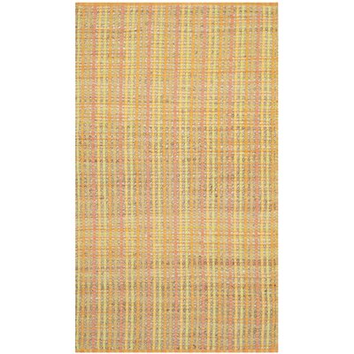 Abia Hand-Woven Yellow Area Rug Rug Size: Rectangle 3 x 5