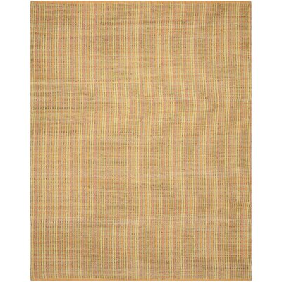 Abia Hand-Woven Yellow Area Rug Rug Size: Rectangle 8 x 10