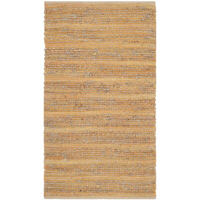 Abia Hand-Woven Orange Area Rug Rug Size: Rectangle 3 x 5