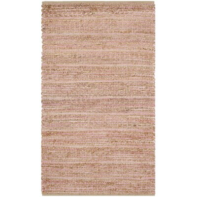 Abia Light Pink Area Rug Rug Size: 3 x 5