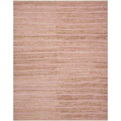 Abia  Hand-Woven Brown Area Rug Rug Size: Rectangle 8 x 10