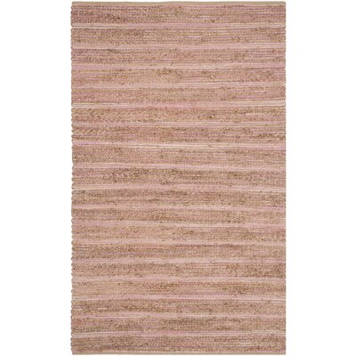 Abia  Hand-Woven Brown Area Rug Rug Size: Rectangle 5 x 8