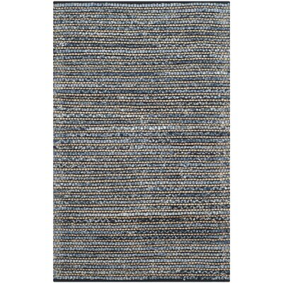 Littleton Dark Blue/Tan Area Rug Rug Size: 4 x 6