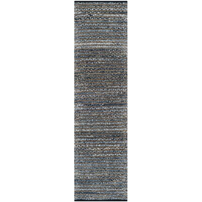 Abia Dark Blue Area Rug Rug Size: Runner 23 x 6