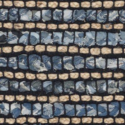 Littleton Dark Blue/Tan Area Rug Rug Size: 2 x 3