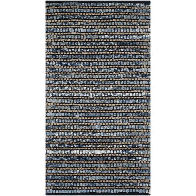 Abia Dark Blue Area Rug Rug Size: Rectangle 23 x 4