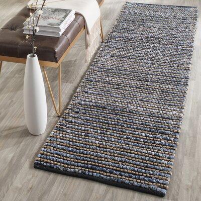 Littleton Dark Blue/Tan Area Rug Rug Size: Runner 23 x 6