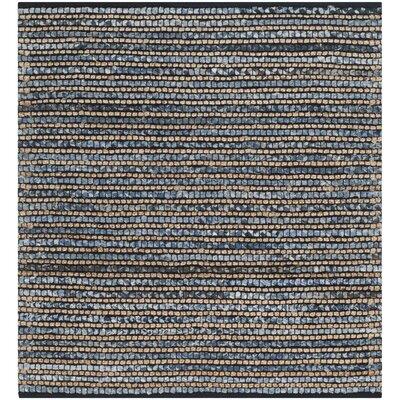 Littleton Dark Blue/Tan Area Rug Rug Size: Square 4