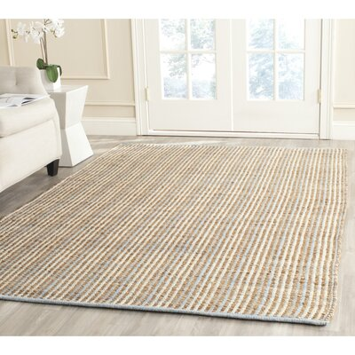 Abia Hand-Woven Natural Area Rug Rug Size: Rectangle 9 x 12