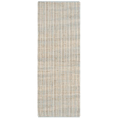 Abia Hand-Woven Natural Area Rug Rug Size: Runner 23 x 8
