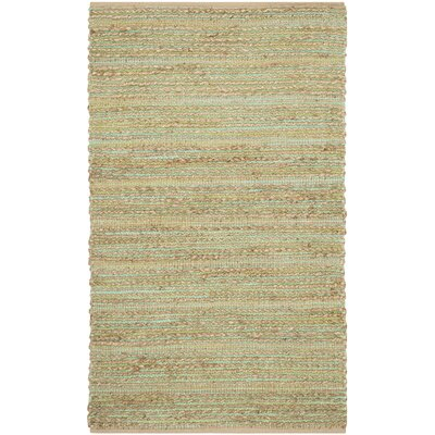 Abia Hand-Woven Light Green Area Rug Rug Size: Rectangle 4 x 6