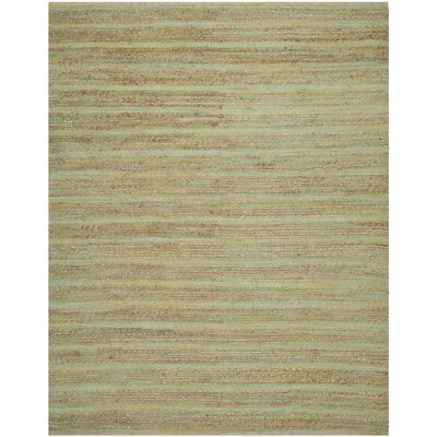 Abia Hand-Woven Light Green Area Rug Rug Size: Rectangle 9 X 12