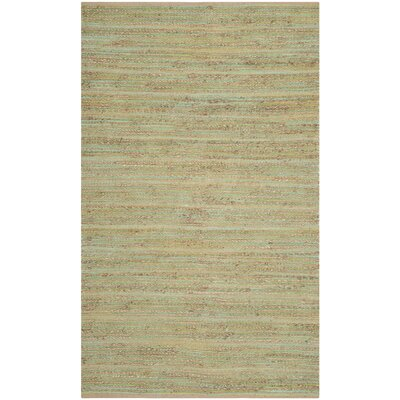 Abia Hand-Woven Light Green Area Rug Rug Size: Rectangle 5 x 8