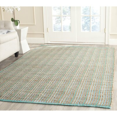 Abia Light Aqua Area Rug Rug Size: Square 6
