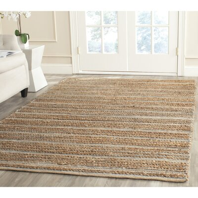 Abia Hand-Woven Beige Area Rug Rug Size: Rectangle 6 x 9