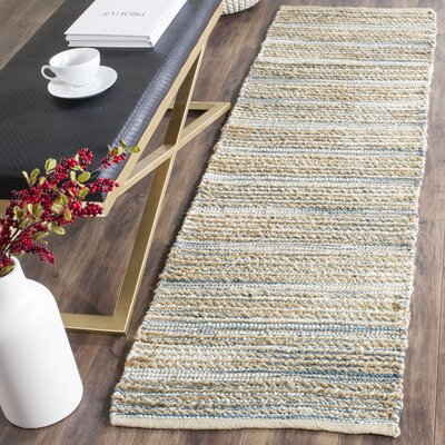 Abia Hand-Woven Beige Area Rug Rug Size: Runner 23 x 6