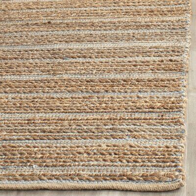 Abia Hand-Woven Beige Area Rug Rug Size: Rectangle 10 x 14