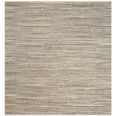 Abia Hand-Woven Beige Area Rug Rug Size: Square 6